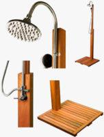 Dřevěná zahradní sprcha Stilista Cascata