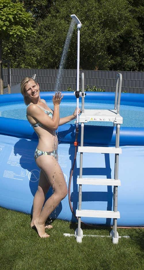 Levná sprcha na bazénové schůdky Speedshower Quick